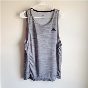Adidas Gray Muscle Active Athletic Tank Top